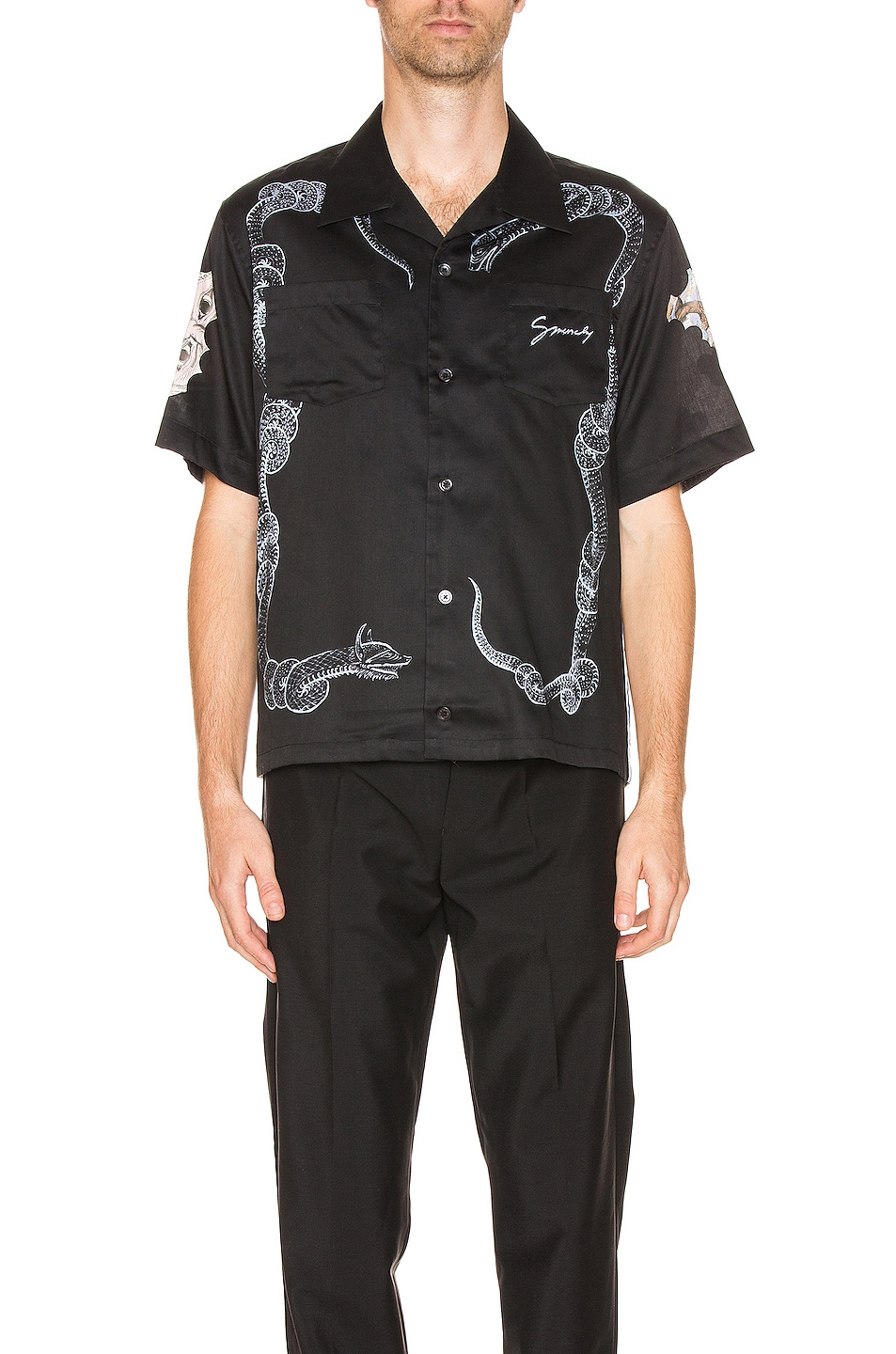 Image 1 of Givenchy Hawaiian Shirt in Black