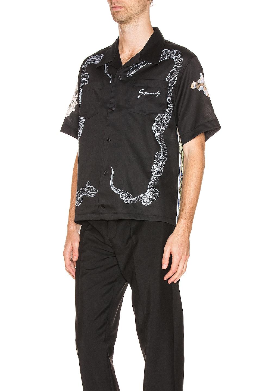Image 3 of Givenchy Hawaiian Shirt in Black