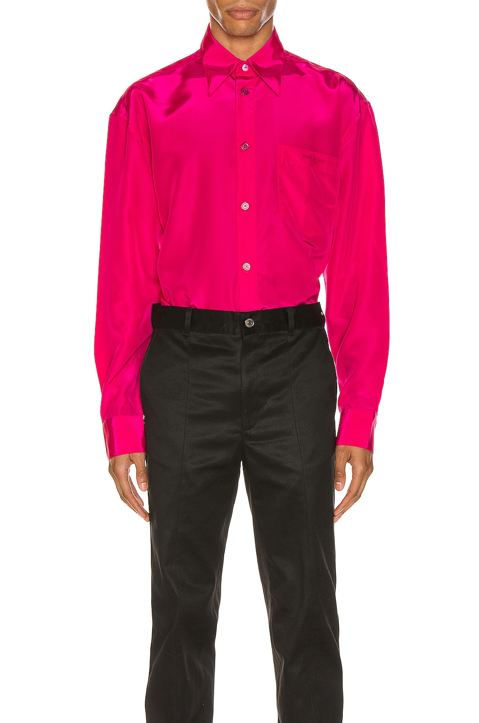Image 1 of Givenchy Long Sleeve Shirt in Fuchsia