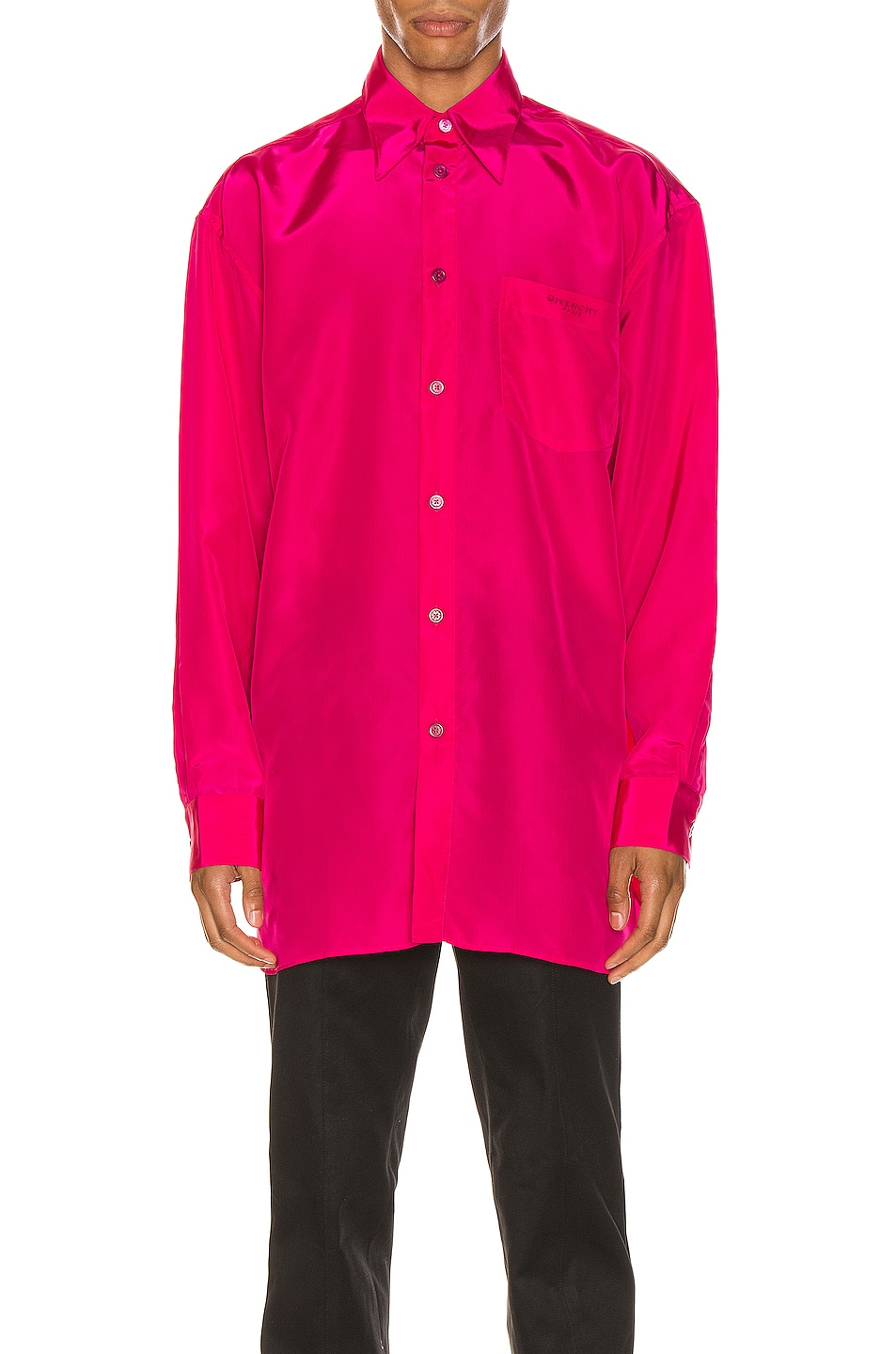Image 2 of Givenchy Long Sleeve Shirt in Fuchsia