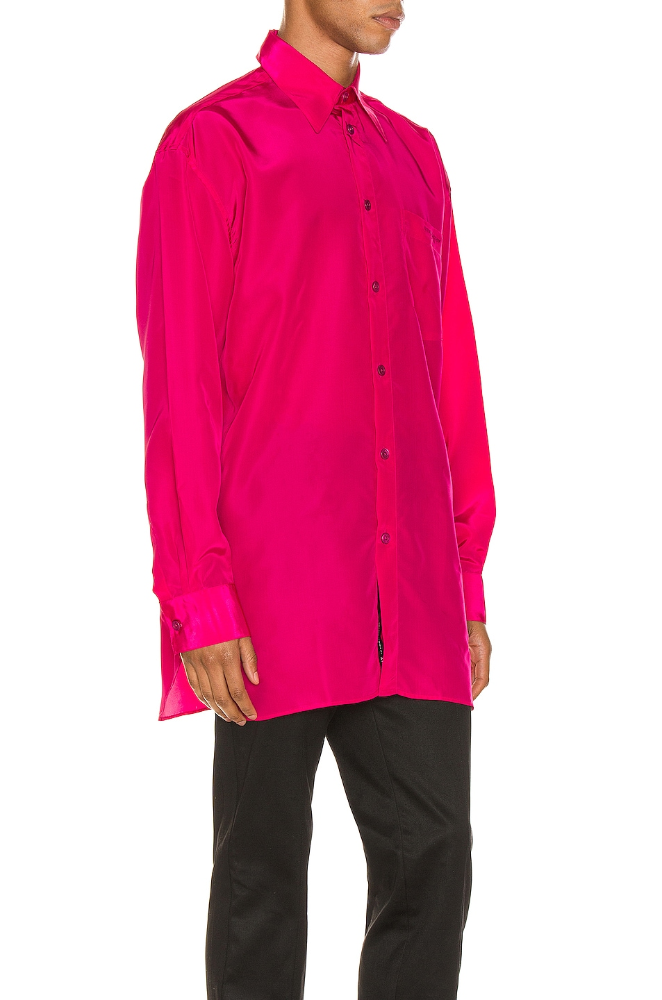 Image 3 of Givenchy Long Sleeve Shirt in Fuchsia