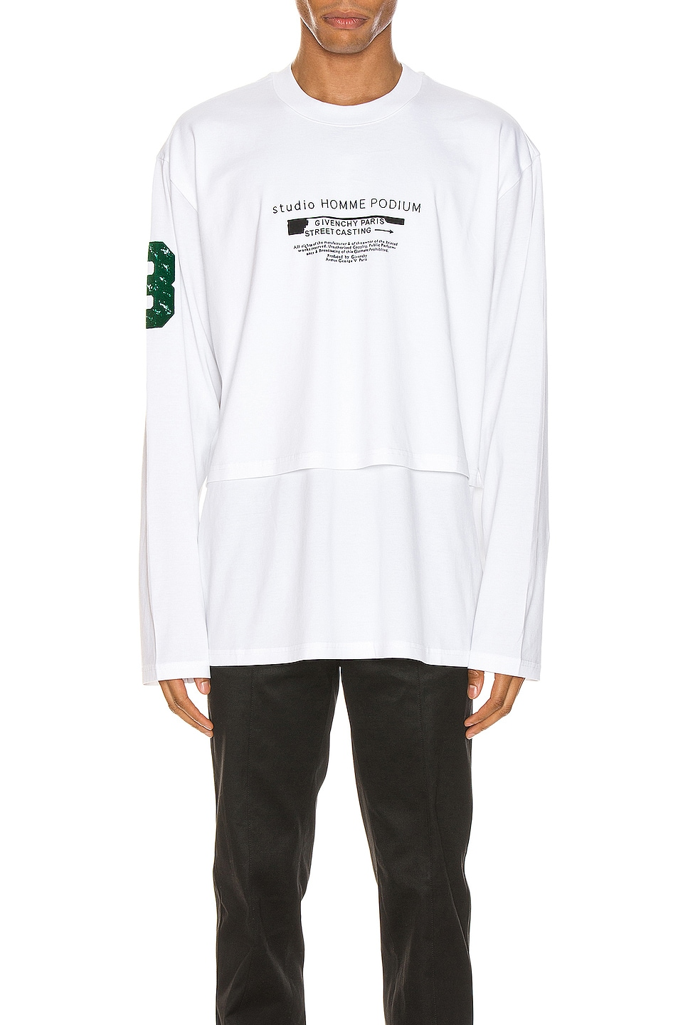 Image 1 of Givenchy Long Sleeve Tee in White