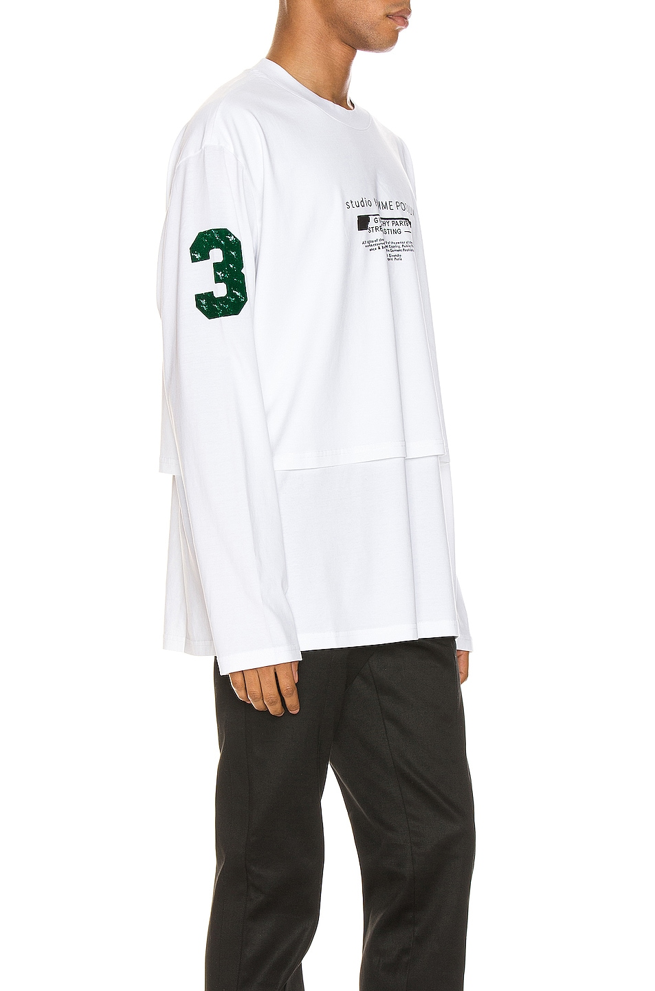 Image 2 of Givenchy Long Sleeve Tee in White