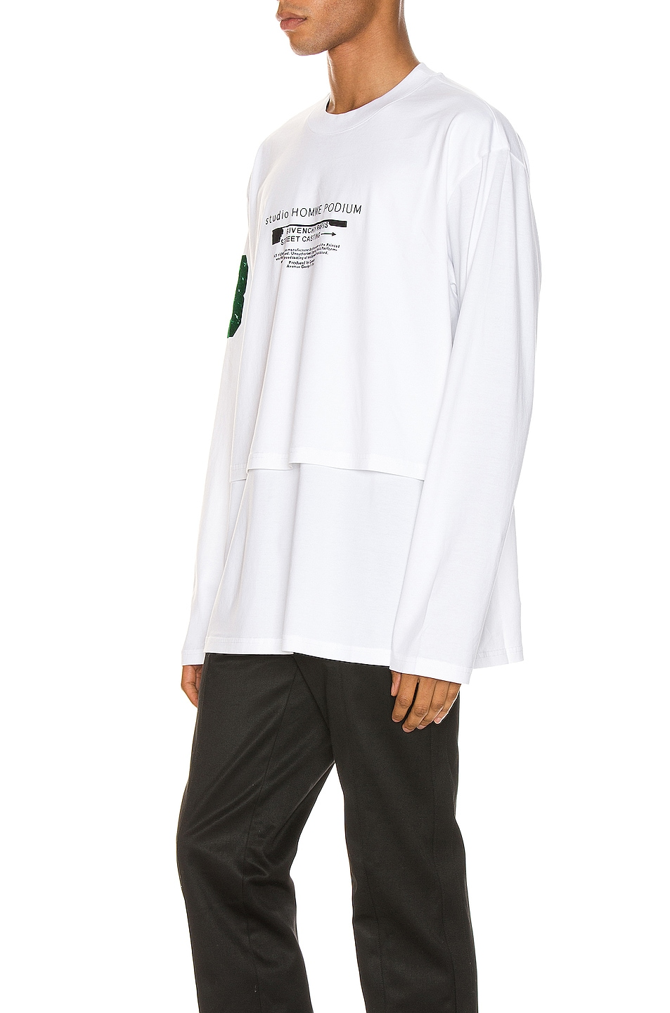 Image 3 of Givenchy Long Sleeve Tee in White