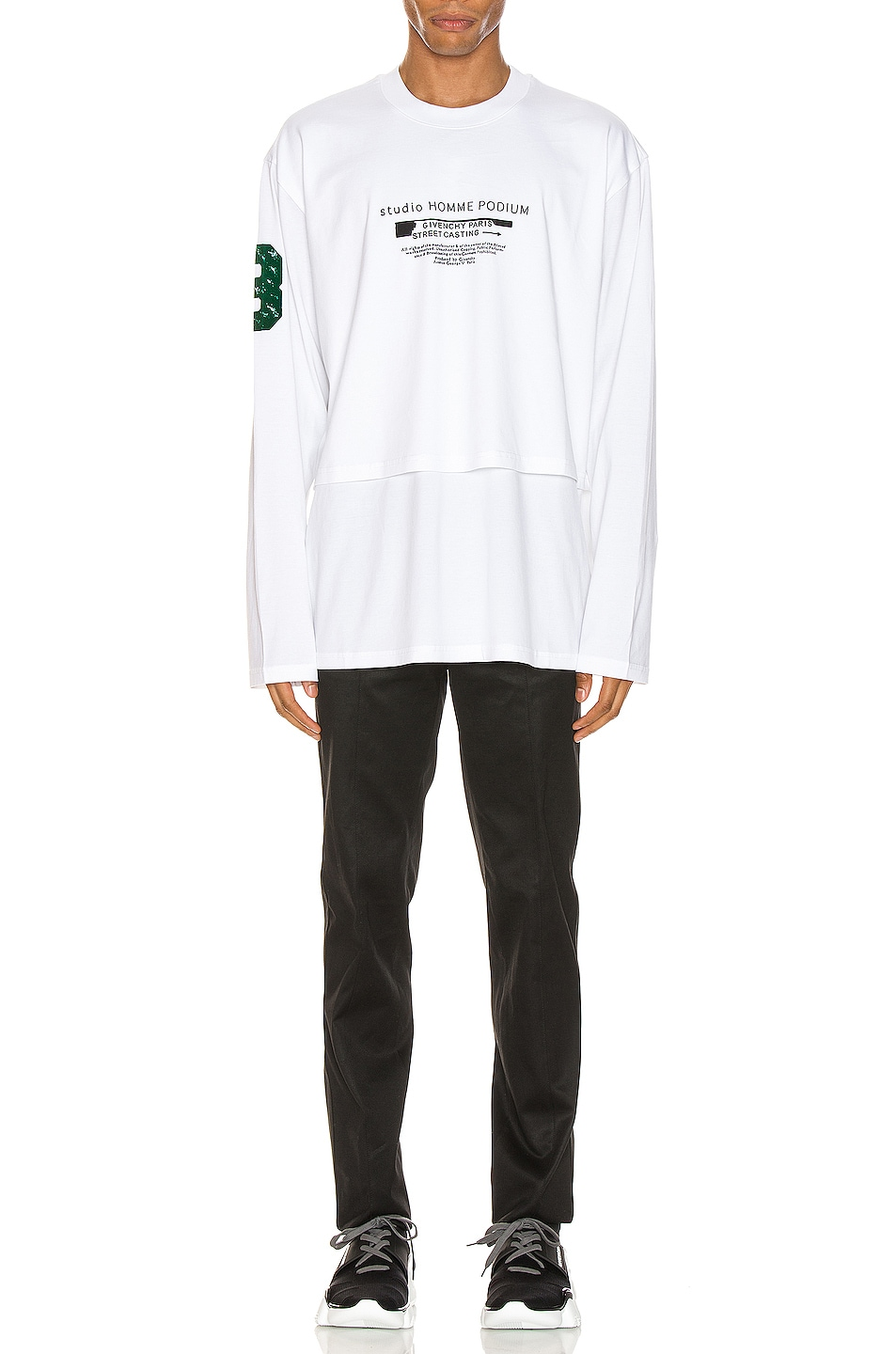 Image 5 of Givenchy Long Sleeve Tee in White