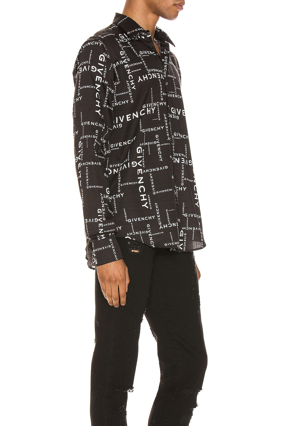 Image 2 of Givenchy Long Sleeve Shirt in Black & White