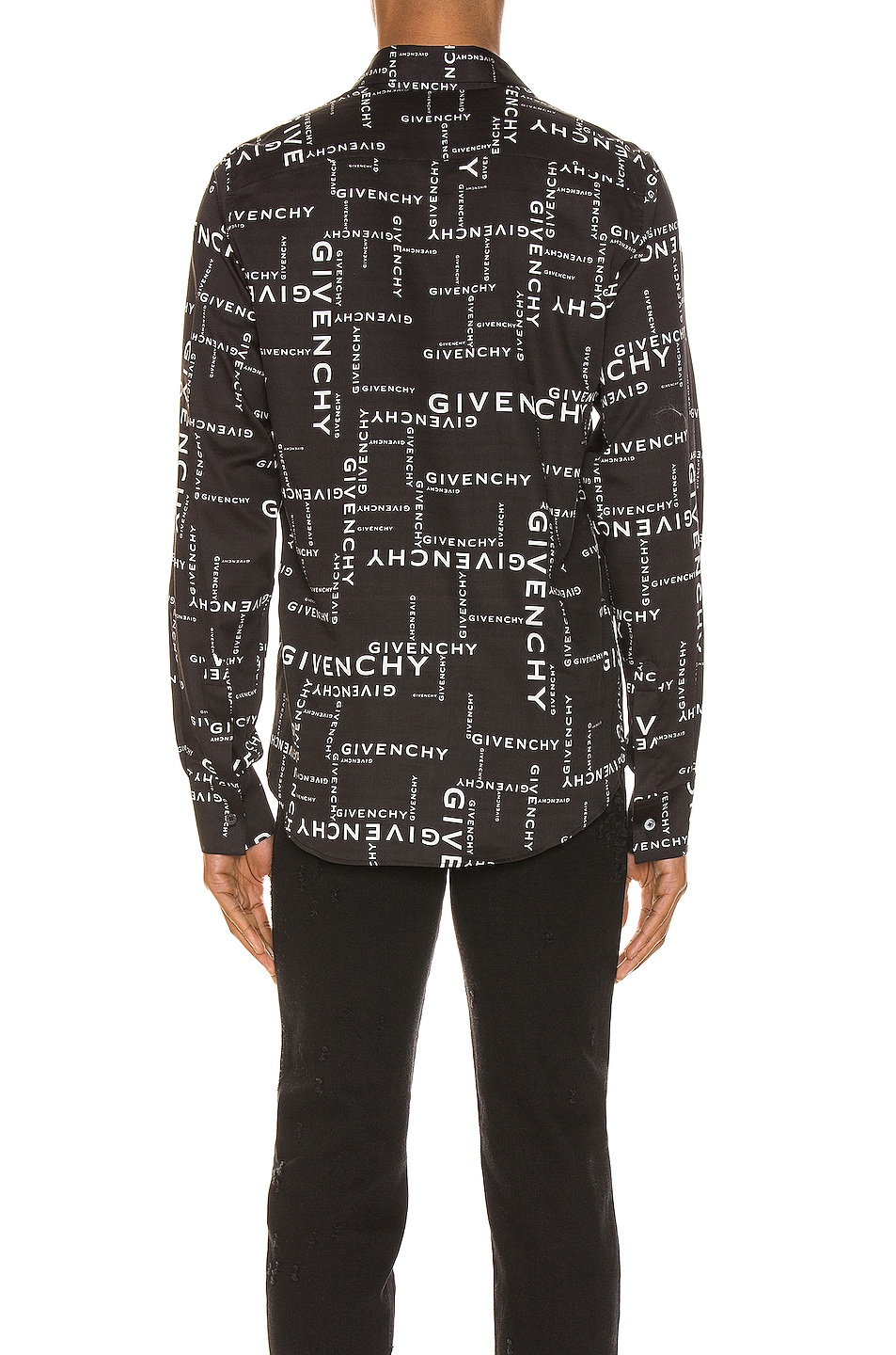 Image 3 of Givenchy Long Sleeve Shirt in Black & White