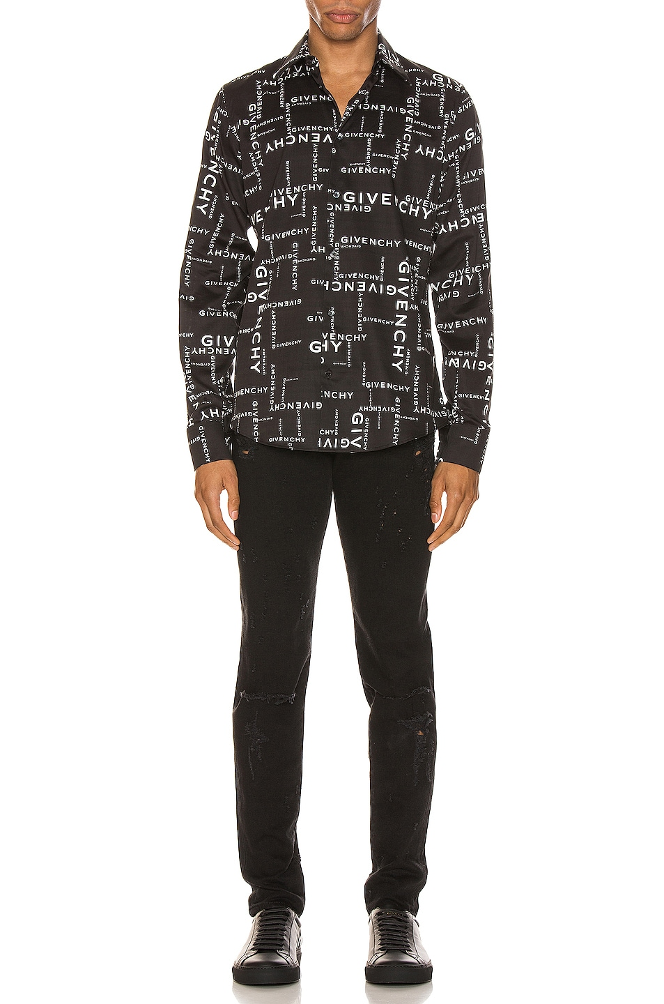 Image 4 of Givenchy Long Sleeve Shirt in Black & White