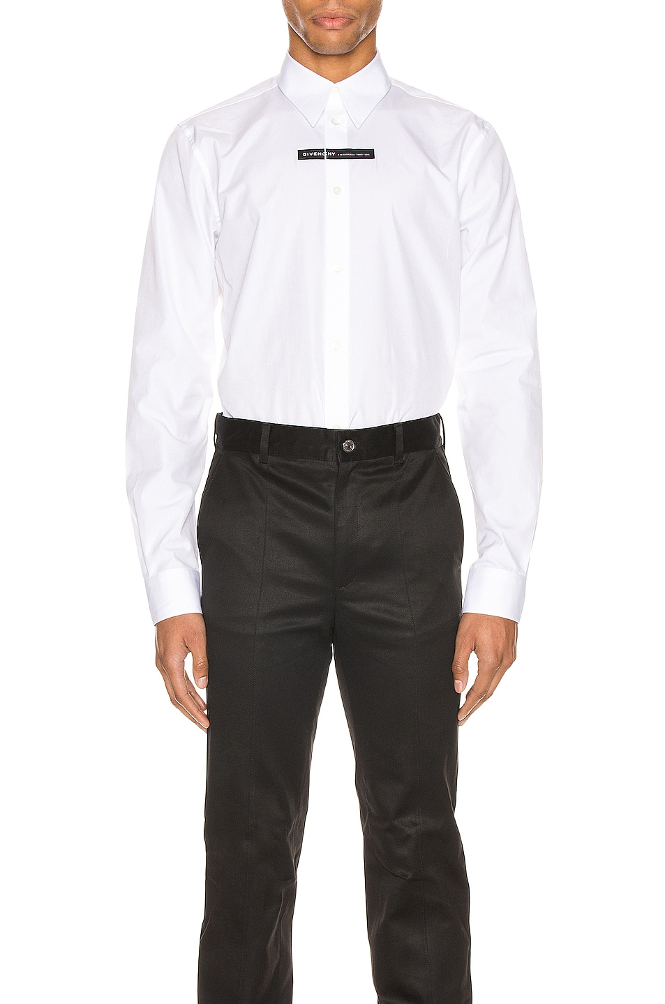 Image 1 of Givenchy Branding Chest Tape Shirt in White