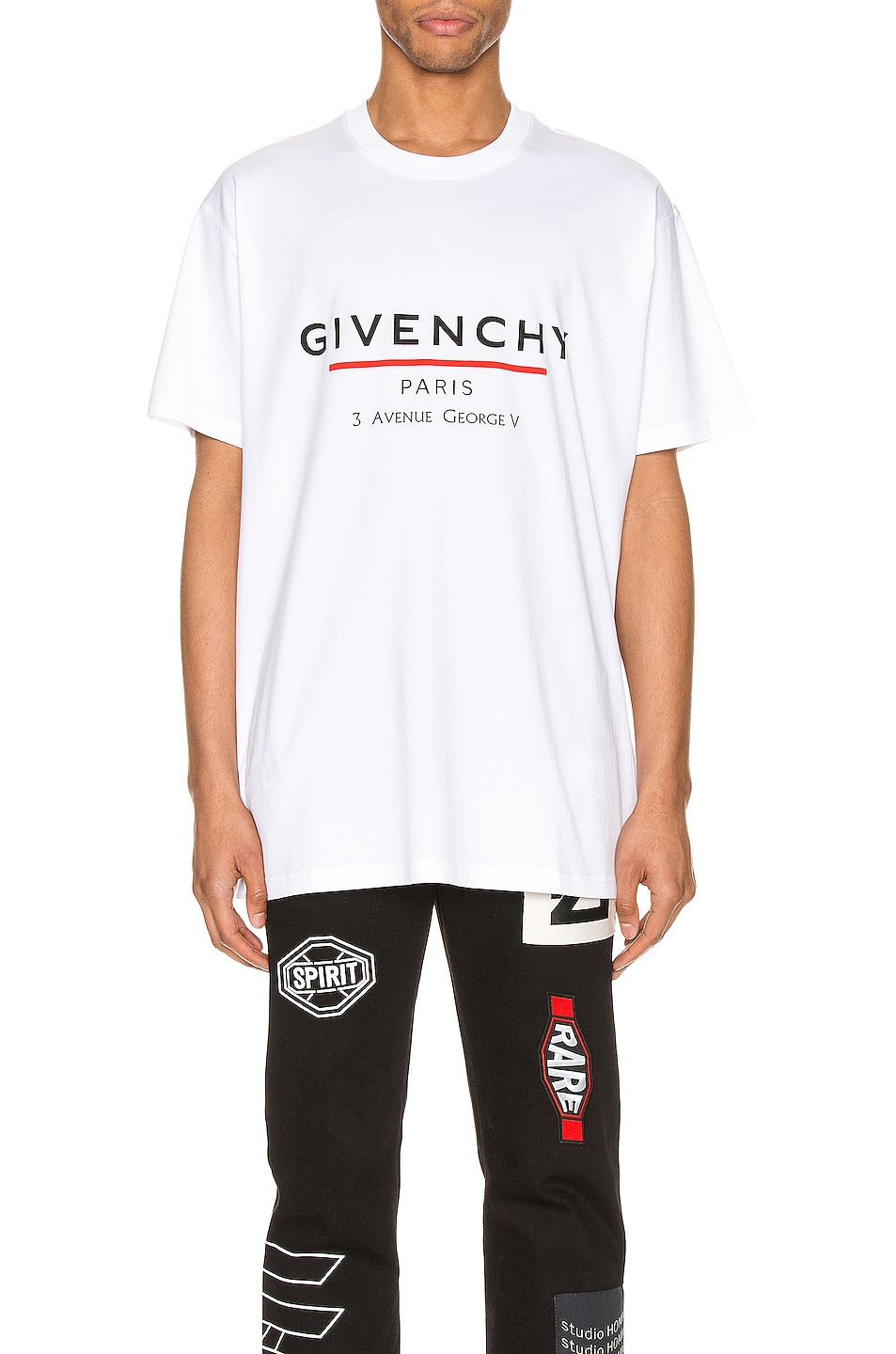 Image 1 of Givenchy Oversized Address Tee in White