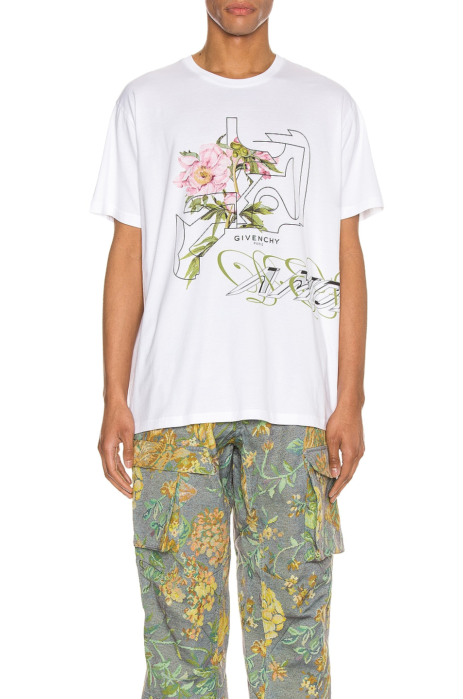 Image 1 of Givenchy Graphic Tee in White