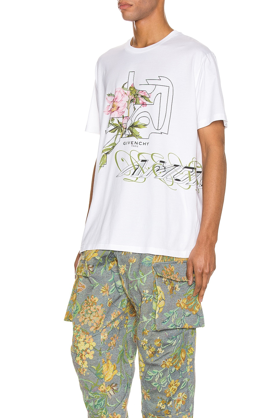 Image 3 of Givenchy Graphic Tee in White