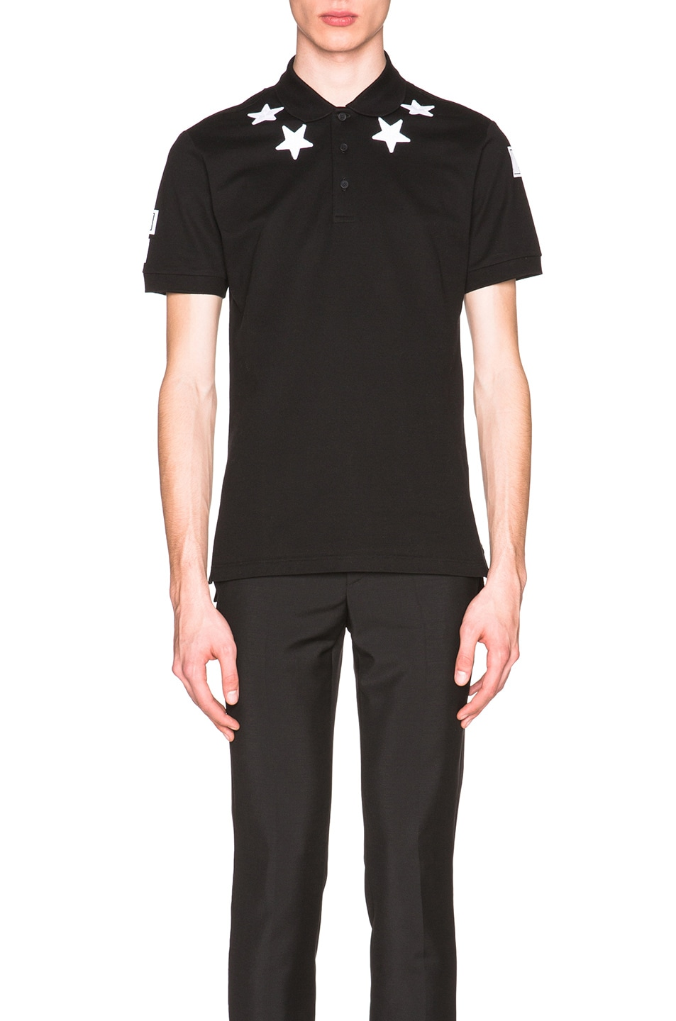 0554c561 Image 1 of Givenchy Cuban Fit Star Collar 74 Polo in Black