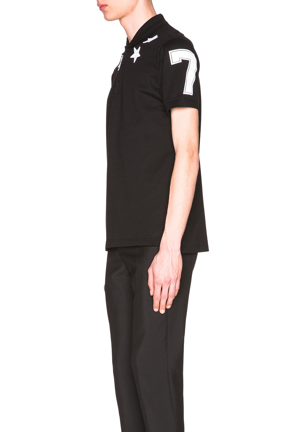 d9c73762 Image 2 of Givenchy Cuban Fit Star Collar 74 Polo in Black
