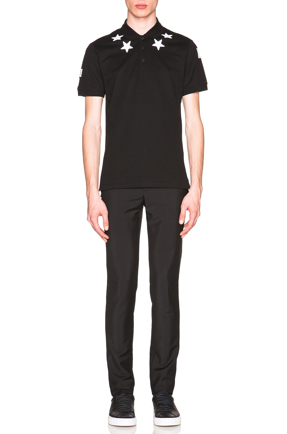 6e57f594 Image 5 of Givenchy Cuban Fit Star Collar 74 Polo in Black