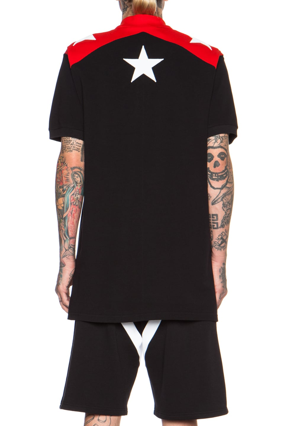 be1e3be7 Image 4 of Givenchy Star Print Cuban Cotton Polo in Black