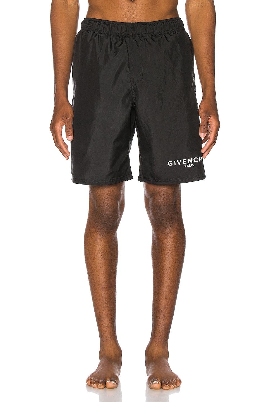 Image 1 of Givenchy Flat Classic Swim Bermuda Short in Black