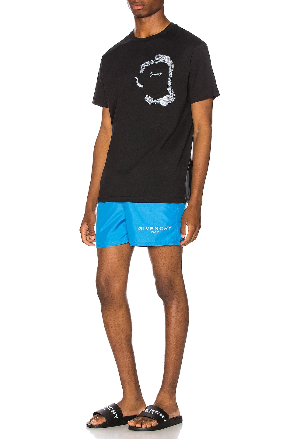 Image 5 of Givenchy Flat Classic Swim Short in Bright Blue