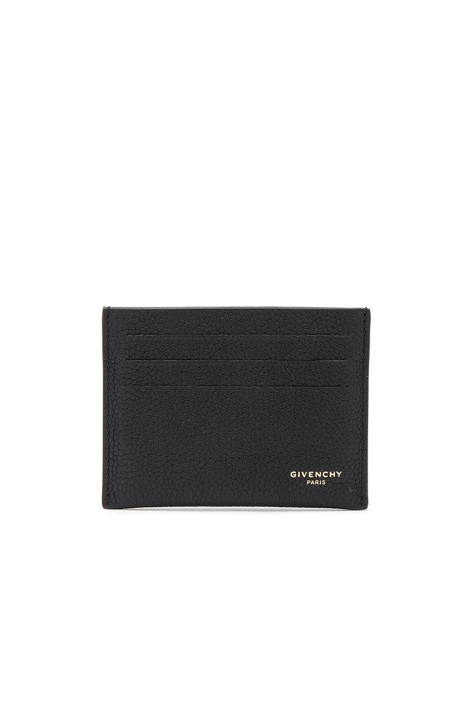 Image 1 of Givenchy Taurillon Leather Card Holder in Black