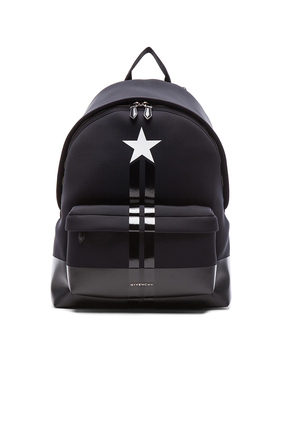 274a40939e Image 1 of Givenchy Neoprene Backpack with Star and Stripes in Black