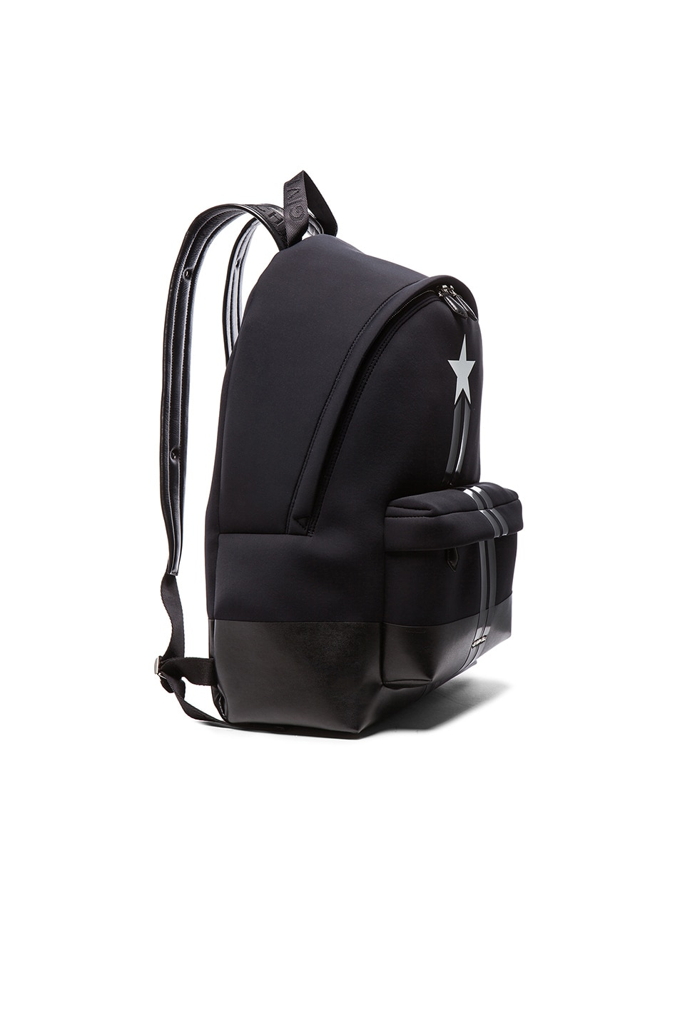 33fd7bfd76 Image 3 of Givenchy Neoprene Backpack with Star and Stripes in Black