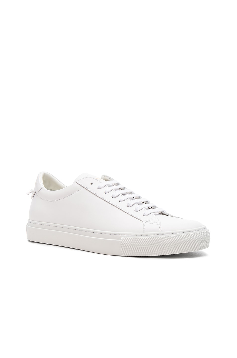 Image 1 of Givenchy Leather Urban Tie Knot Sneakers in White
