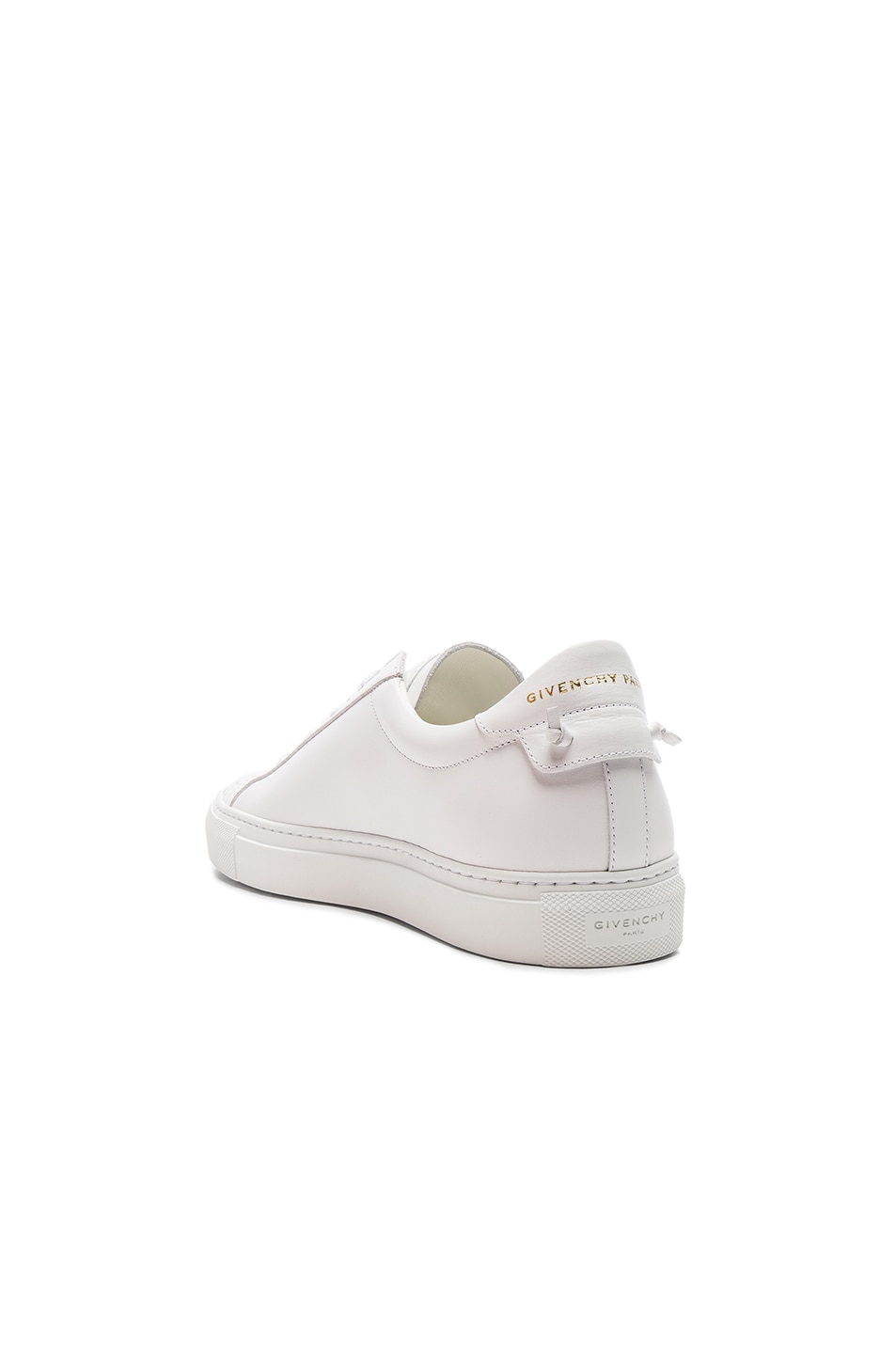 Image 3 of Givenchy Leather Urban Tie Knot Sneakers in White