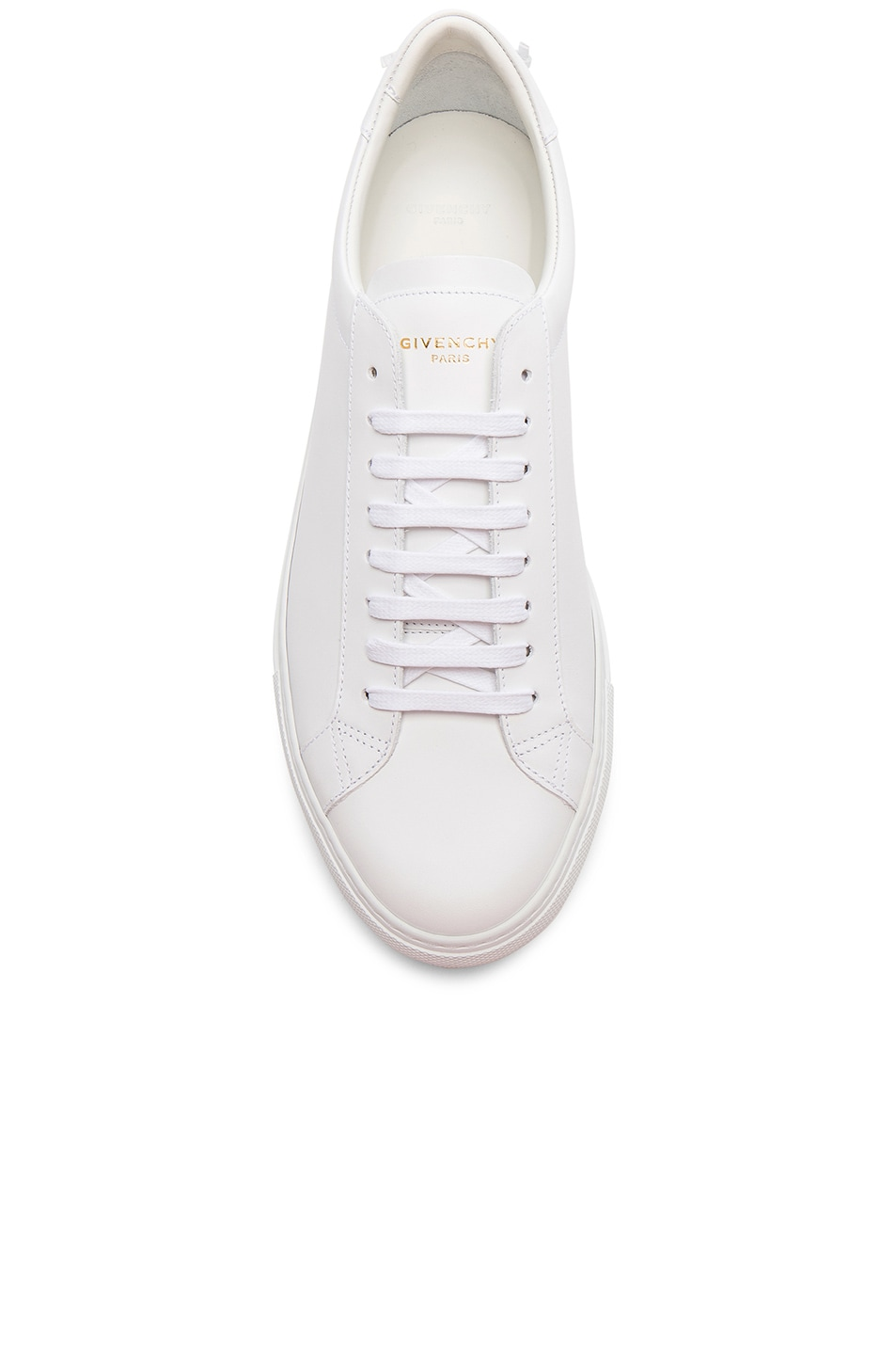 Image 4 of Givenchy Leather Urban Tie Knot Sneakers in White