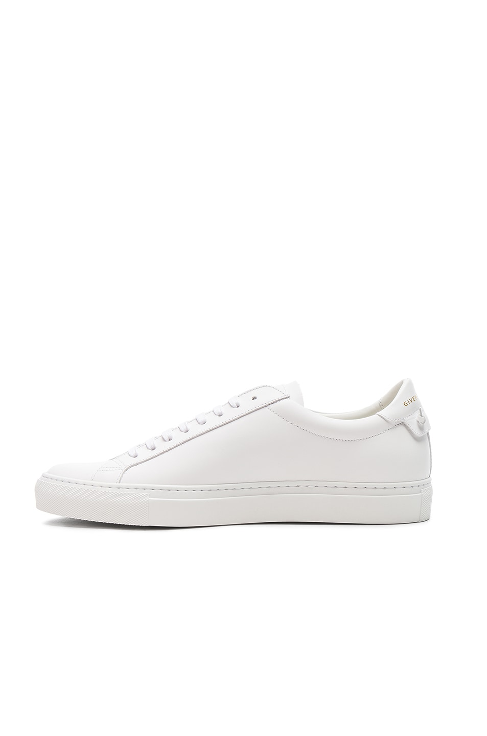 Image 5 of Givenchy Leather Urban Tie Knot Sneakers in White