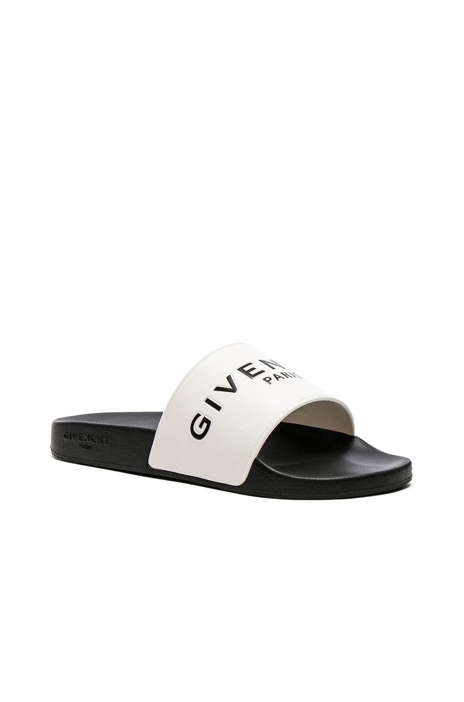 ca348fe7896c Image 1 of Givenchy Slide Sandals in Black   White