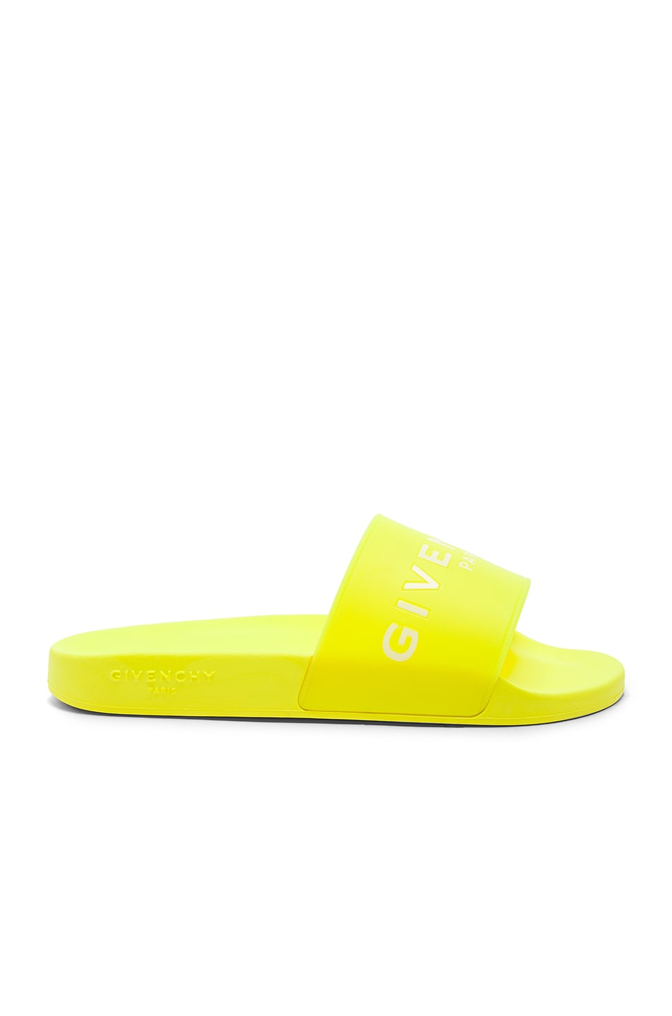 Polyurethane Slides in Yellow,Neon Givenchy