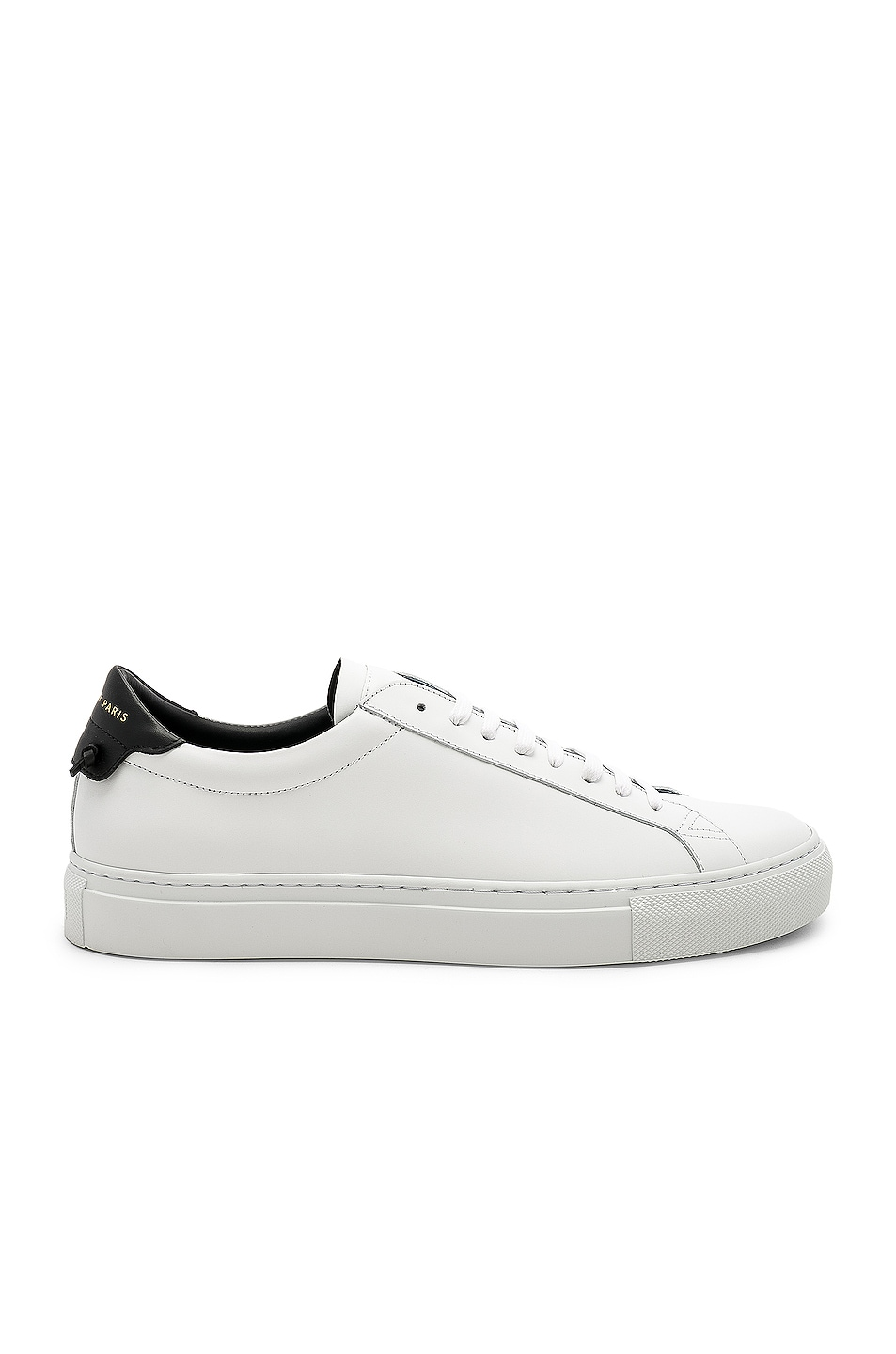 Image 1 of Givenchy Leather Low Sneakers in White & Black
