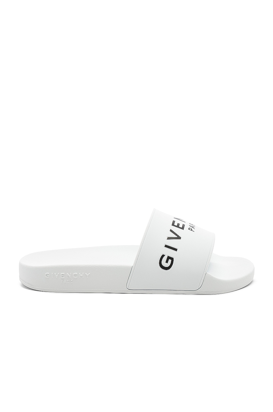 Image 1 of Givenchy Polyurethane Slide Sandals in White