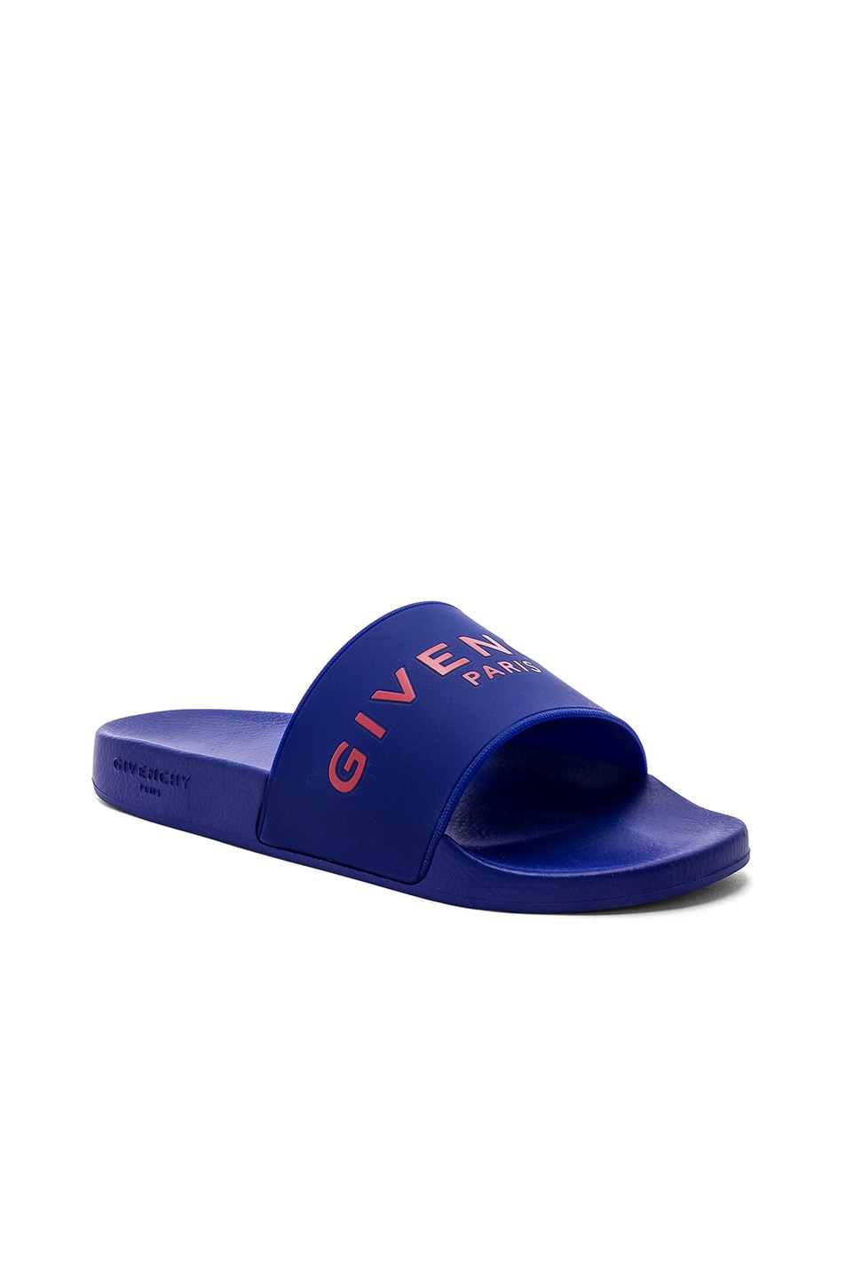 71774dc7e129 Image 1 of Givenchy Logo Slides in Blue   Red