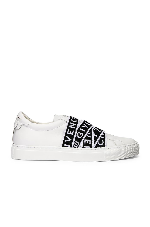 Image 2 of Givenchy Logo Webbing Street Sneaker in White & Black