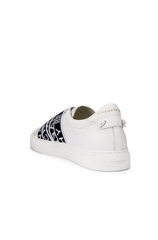 Image 3 of Givenchy Logo Webbing Street Sneaker in White & Black