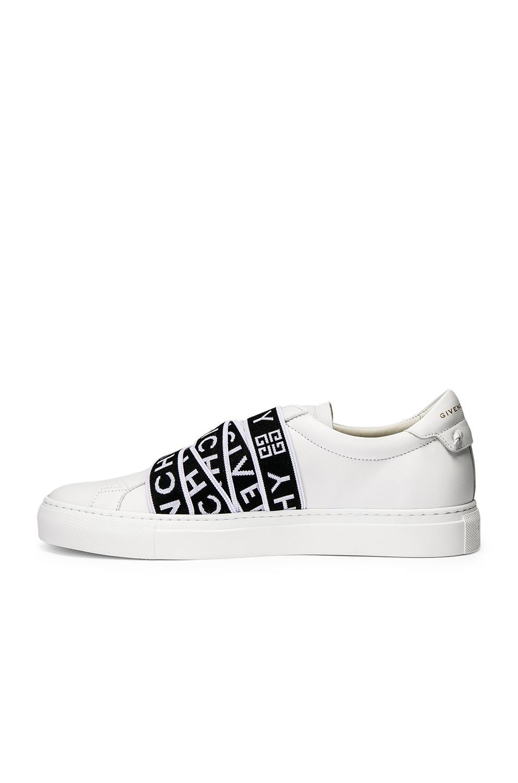 Image 5 of Givenchy Logo Webbing Street Sneaker in White & Black