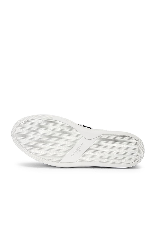 Image 6 of Givenchy Logo Webbing Street Sneaker in White & Black