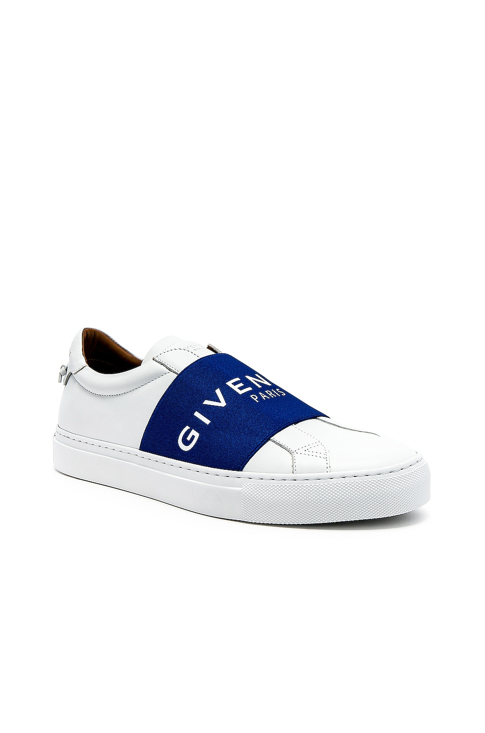 Image 1 of Givenchy Elastic Sneakers in White & Blue