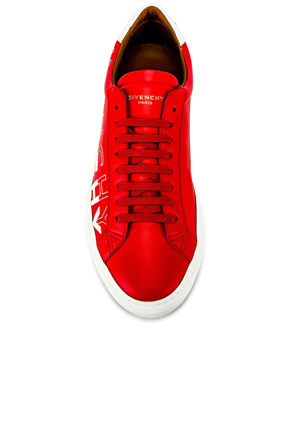 Image 4 of Givenchy Urban Street Low Sneakers in Red & White