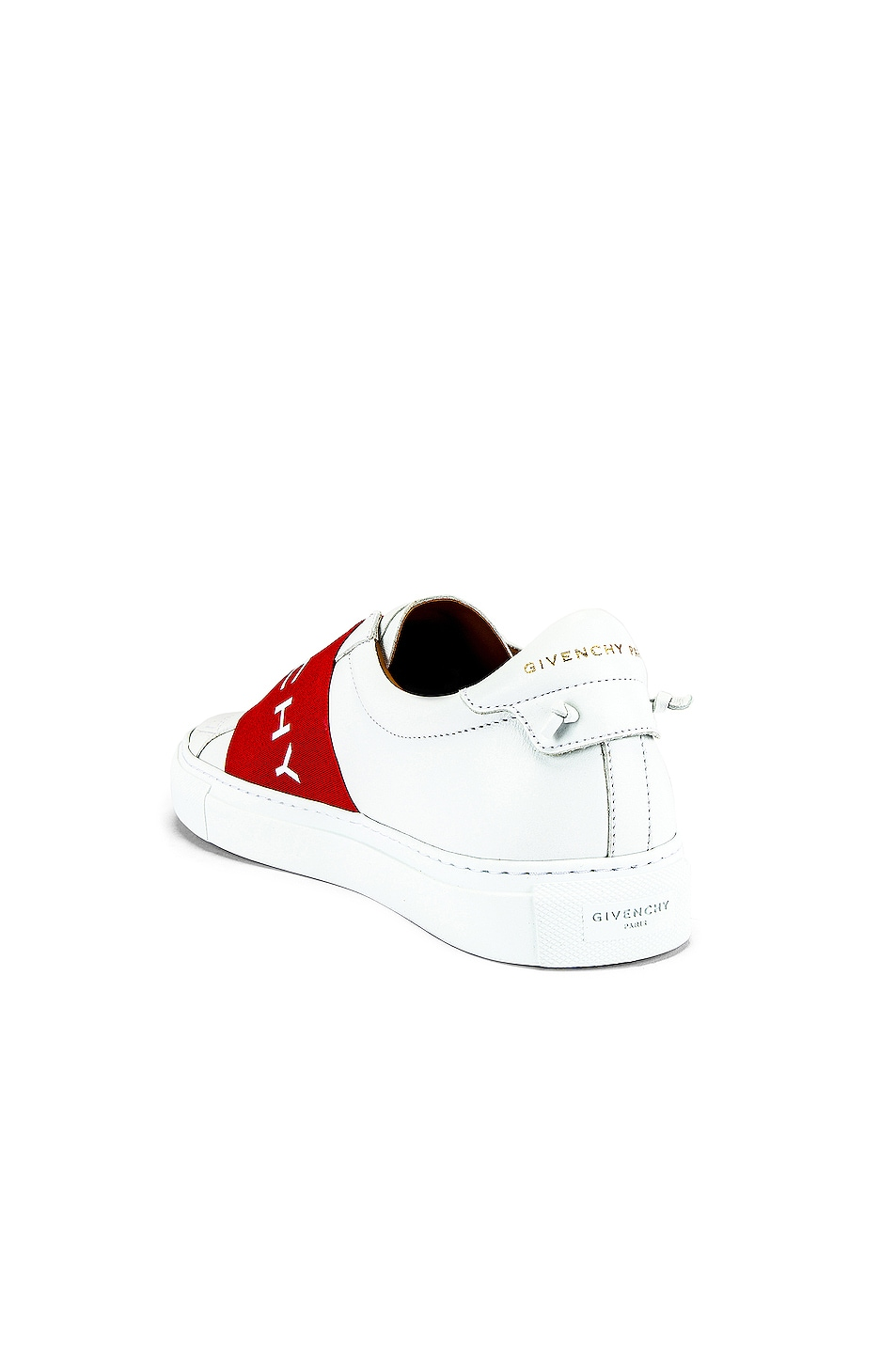 Image 3 of Givenchy Urban Street Elastic Sneakers in White & Red