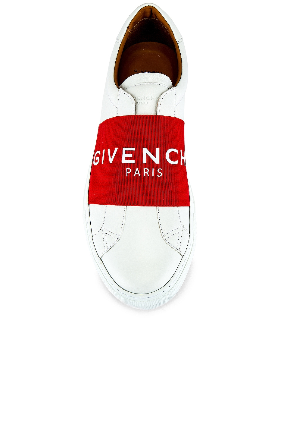 Image 4 of Givenchy Urban Street Elastic Sneakers in White & Red