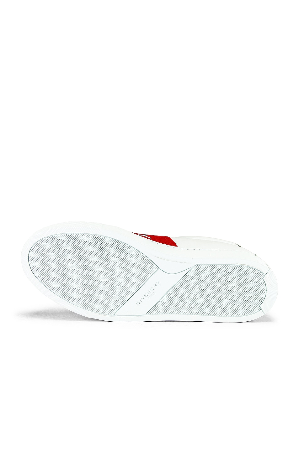 Image 6 of Givenchy Urban Street Elastic Sneakers in White & Red