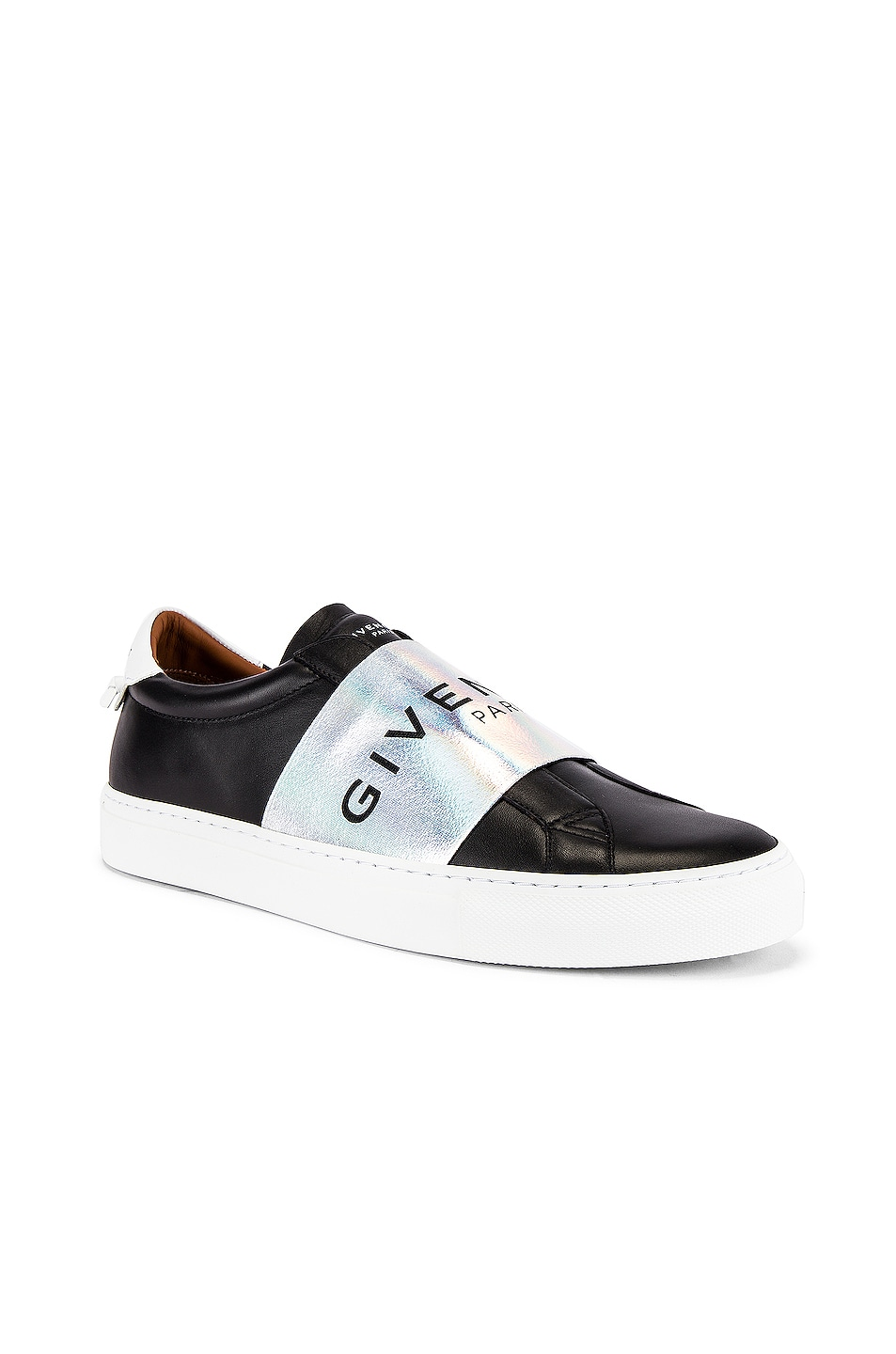Image 1 of Givenchy Urban Street Elastic Sneakers in Black & White