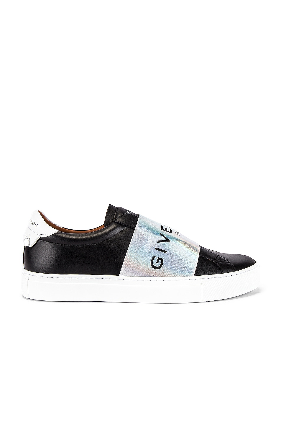 Image 2 of Givenchy Urban Street Elastic Sneakers in Black & White