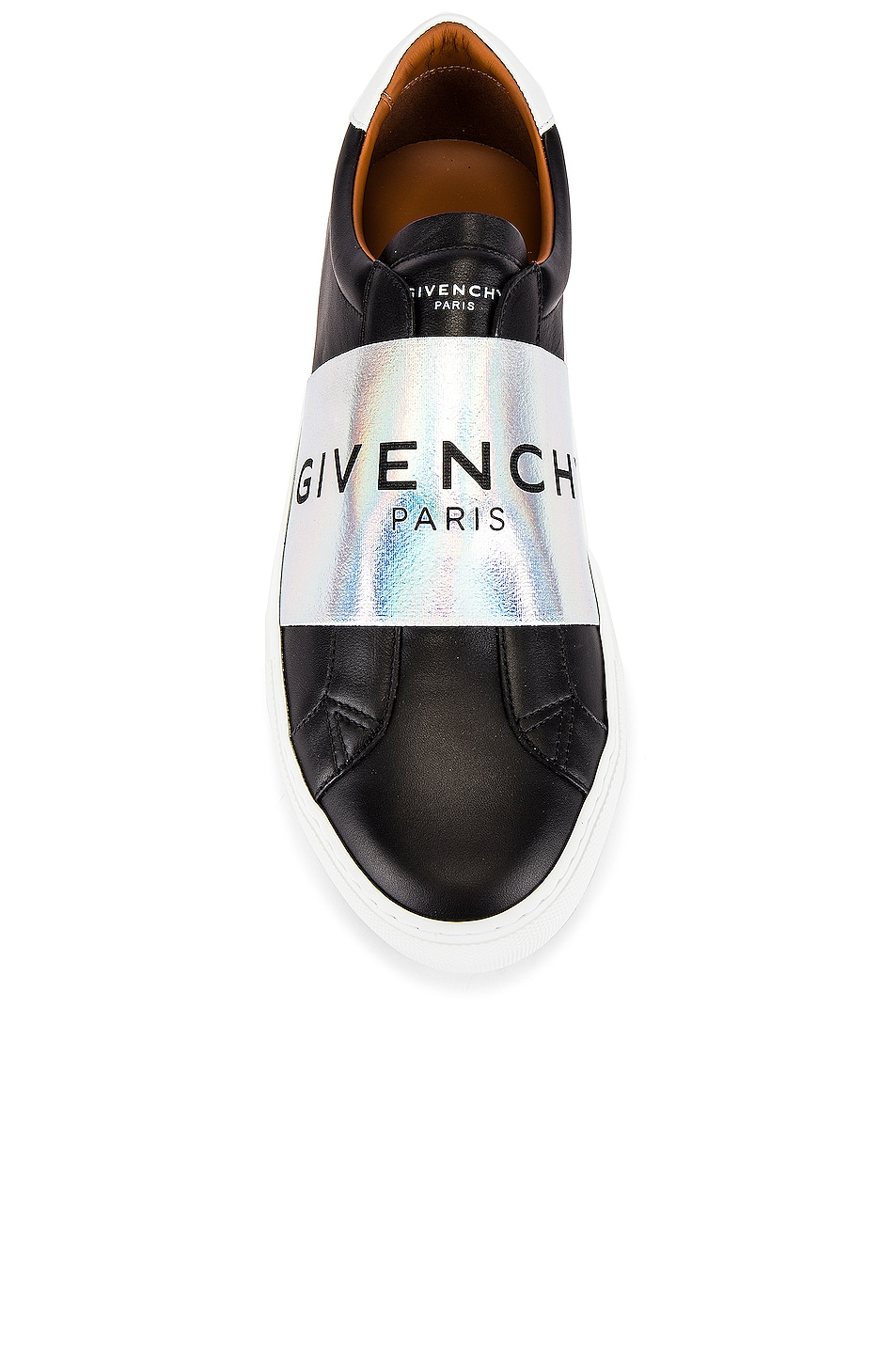 Image 4 of Givenchy Urban Street Elastic Sneakers in Black & White