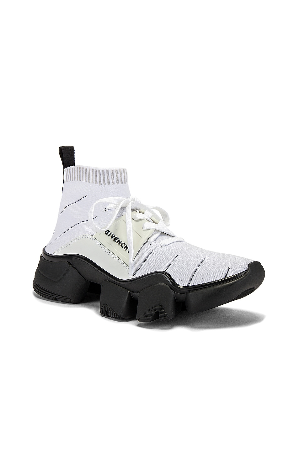 Image 1 of Givenchy Mid Jaw Sock Sneaker in White
