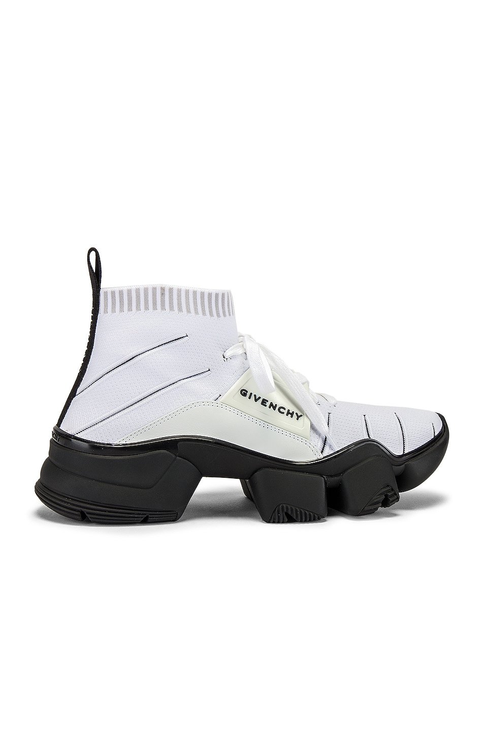 Image 2 of Givenchy Mid Jaw Sock Sneaker in White