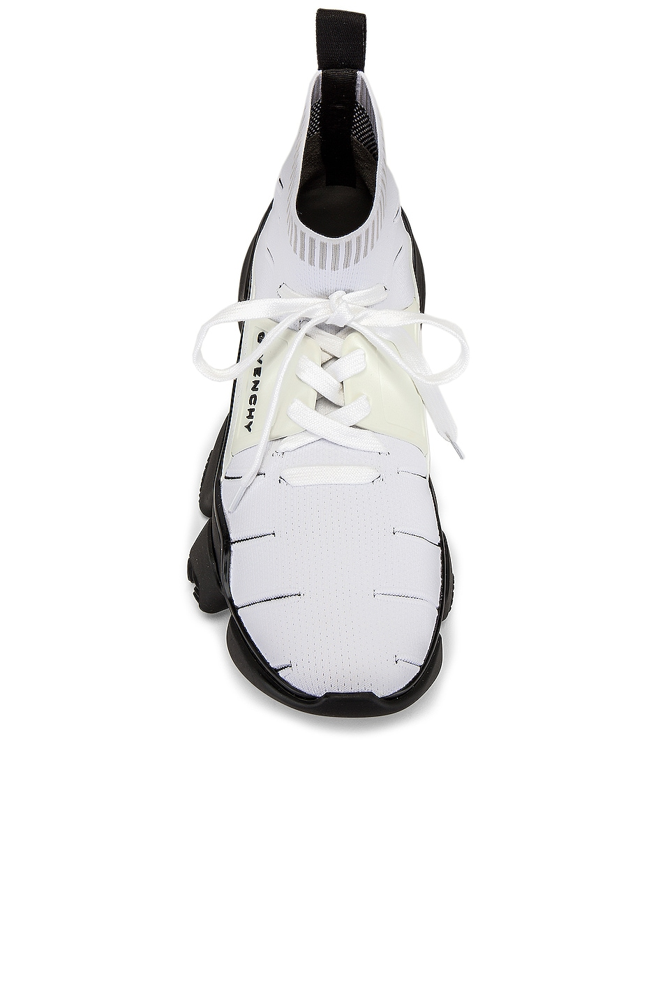 Image 4 of Givenchy Mid Jaw Sock Sneaker in White