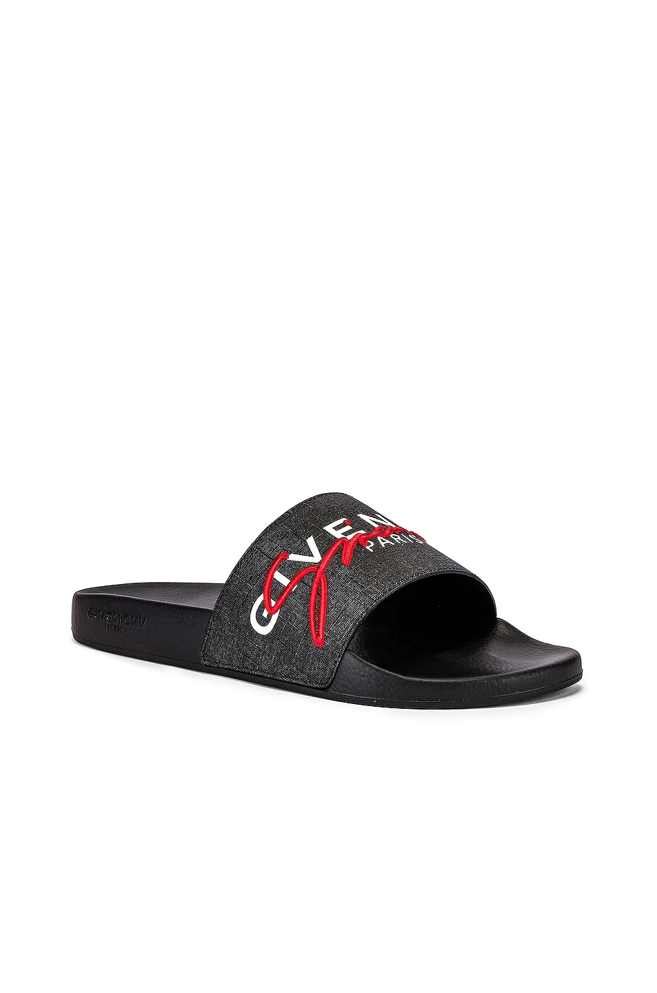 Image 1 of Givenchy Logo Slide in Black & Red
